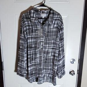 AVA&VIV black and white blouse
